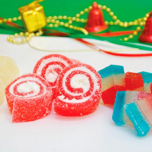Gomitas dulces navideñas