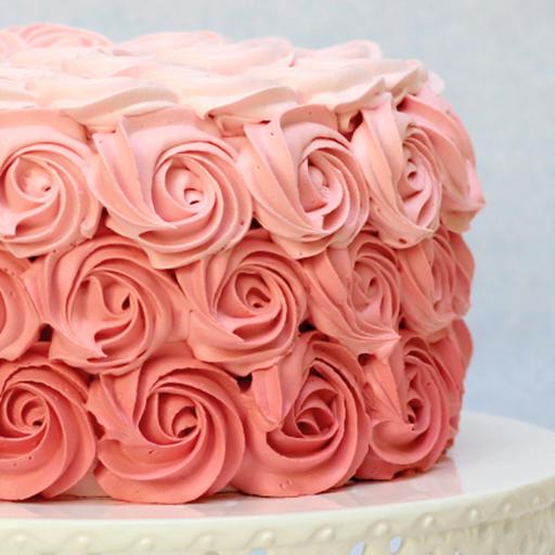 Decoración de rosas con crema