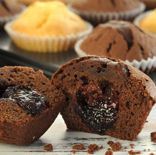 Muffins de Chocolate con Frutos Rojos